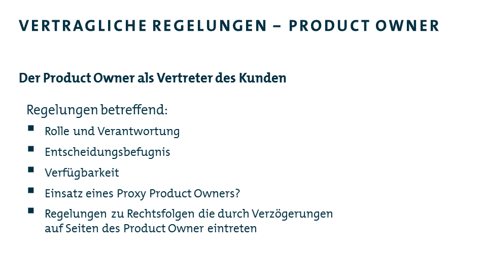 Die Rolle des Product Owners